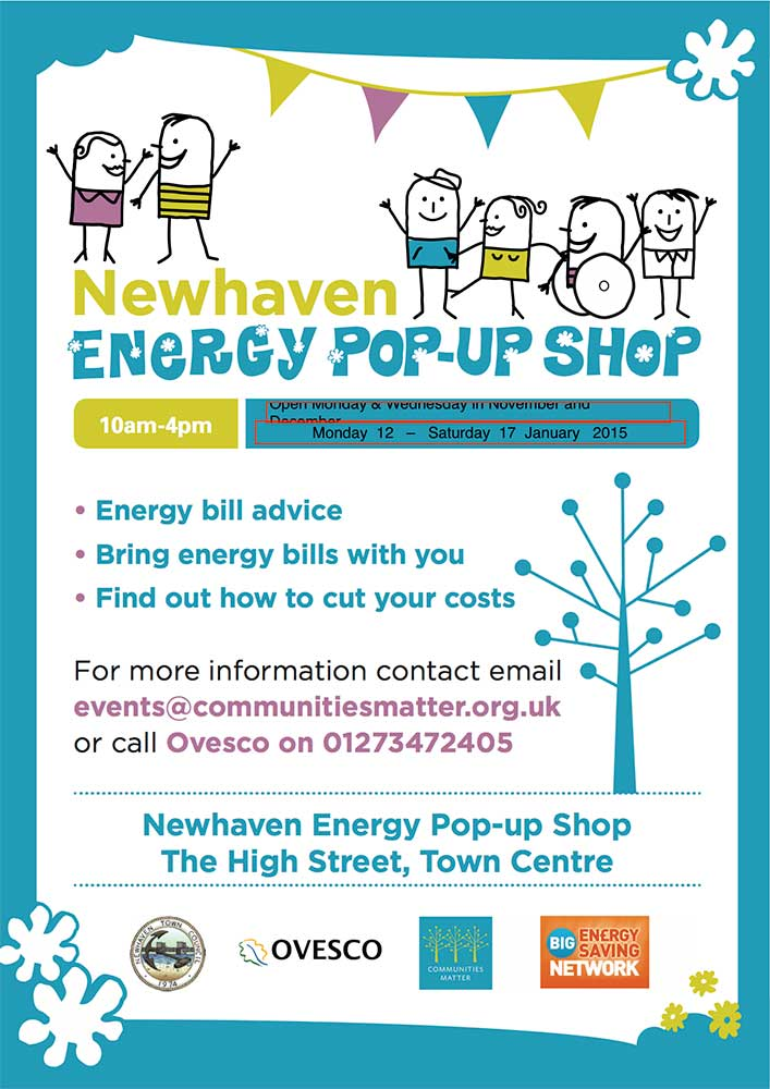 energy pop-up shop poster